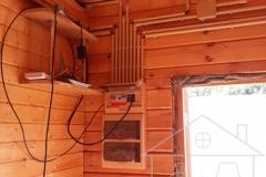 Накладной электромонтаж в трубах ПВХ, щит