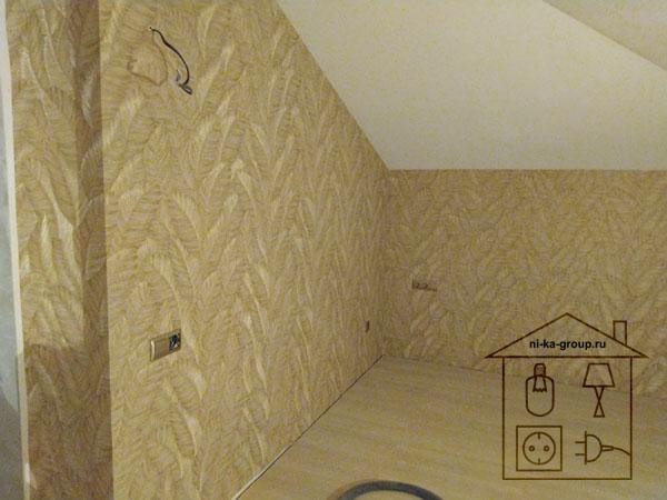 Установка розеток и выключателей в спальне