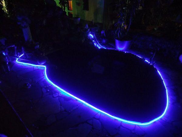 Светодиодная подсветка пруда