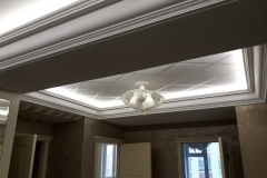 Подсветка потолка в подготовленной нише