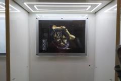 подсветка новых витрин в Библиотеке часов