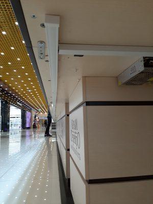 Подключение блоков питания для светодиодной подсветки ювелирных витрин, протяжка кабеля в кабель-канале